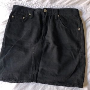 rag & bone black denim skirt